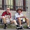 Hans and Finn Gehrcke on vacation in Amsterdam July 19. 2006